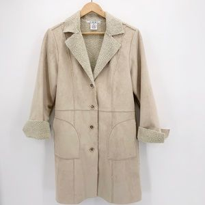 CAbi Style 127 Faux Suede Shearling Lined Coat